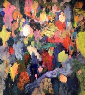 """""""Friche"""", 2014, huile sur toile, 190 x 170 cm."""