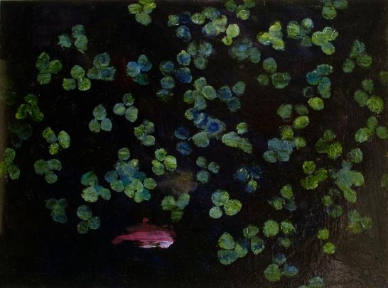 """""""Comme un Poisson dans l'Eau"""", 2011, huile sur carton 29 x 39 cm"""