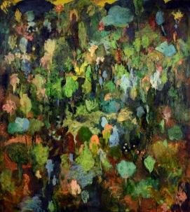 """Buissons ardents"", 2012, huile sur toile, 190 x 170 cm."