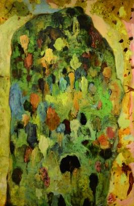 """""""Jardin"""", 2012, huile sur toile, 190 x 125 cm."""