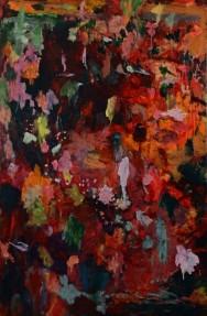 """""""Jardin"""", 2014, huile sur toile, 190 x 125 cm."""
