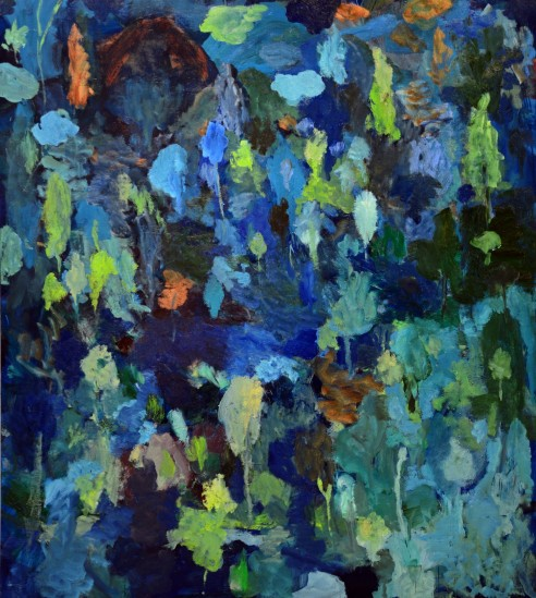 """""""Jardin"""", 2014, huile sur toile, 190 x 170 cm."""