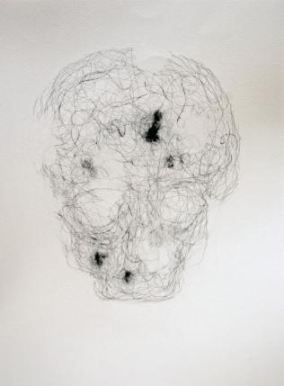 """""""Héritage"""", 2010, mine de plomb sur papier, 42 x 30 cm."""