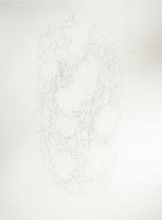 """""""Vacuité"""", 2010, mine de plomb sur papier, 42 x 30 cm."""