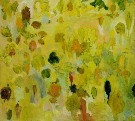"""""""Le jardin de ma voisine"""" 2006, huile sur toile, 170 x 190 cm."""