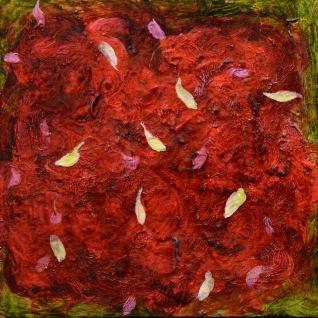 """""""Larmes"""" 2007, huile sur bois, 20 x 20 cm."""