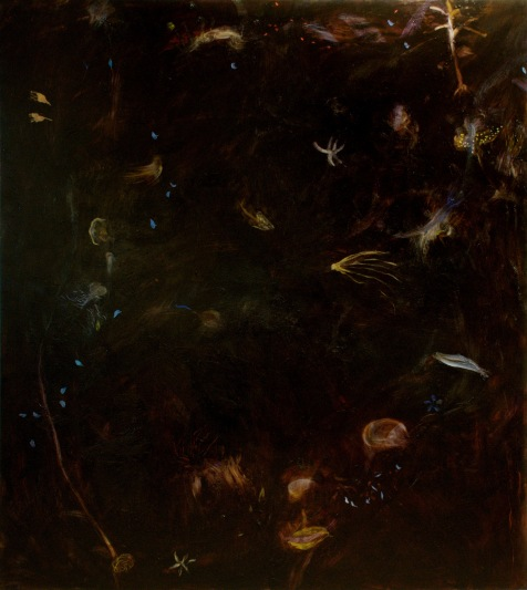 """""""Sur la terre"""" 2006, Huile sur toile, 190 x 170 cm"""