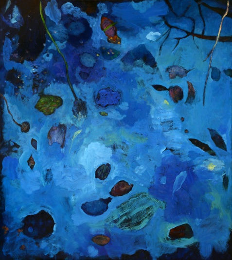 """""""Nature"""", 2014, huile sur toile, 190 x 170 cm."""