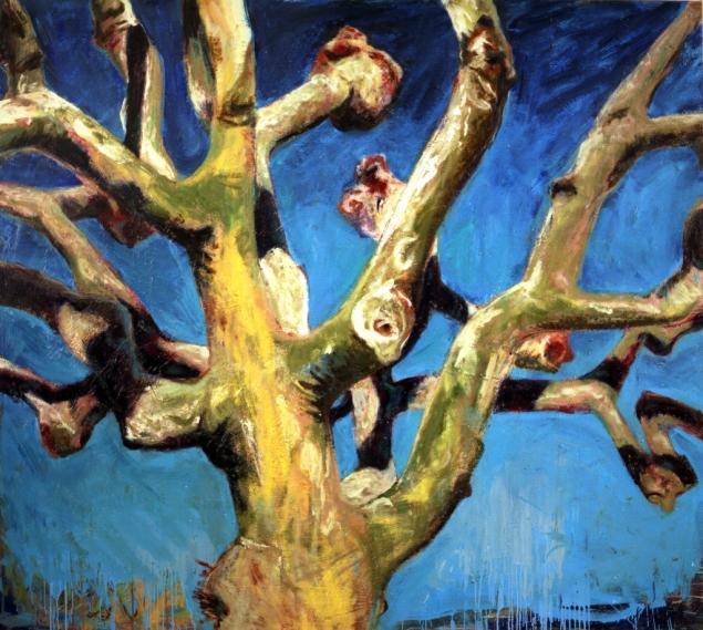 """""""Platane"""", 1991, huile sur toile, 170 x 190 cm"""