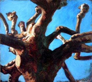 """""""Platane"""", 1992, huile sur toile, 170 x 190 cm"""