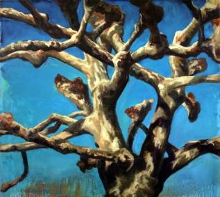 """""""Platane"""", 1993, huile sur toile, 170 x 190 cm"""