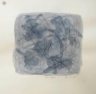 """""""Aller Retour"""", 2005, mixte sur papier, 30 x 30 cm"""