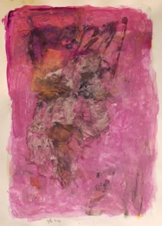 """""""Crabouille"""", 1998, mixte sur papier, 50 x 35 cm"""