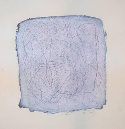 """""""Epines"""", 2005, mixte sur papier, 20 x 20 cm"""