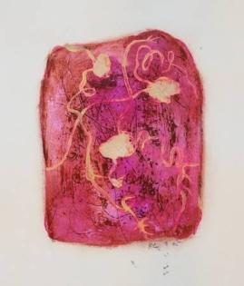 """""""Epines"""", 2005, mixte sur papier, 30 x 20 cm"""