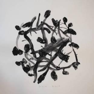 """""""Fini de Rire"""", 2006, mixte sur papier, 30 x 30 cm"""