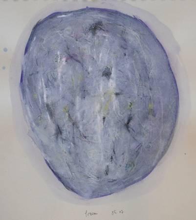 """""""Freeze"""", 2007, mixte sur papier, 40 x 30 cm"""