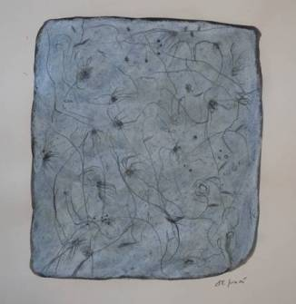 """""""Dégel"""", 2005, mixte sur papier, 30 x 30 cm"""