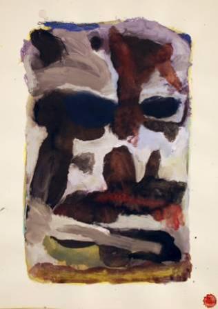 """""""Jardin"""", 1996, mixte sur papier, 54 x 35 cm"""