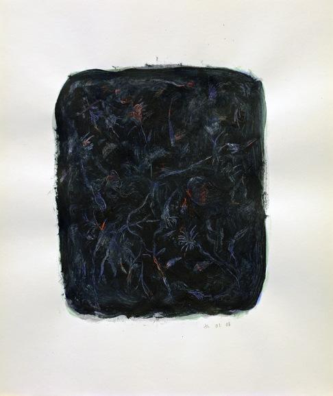 """""""Nature"""", 2008, mixte sur papier, 42 x 35 cm"""