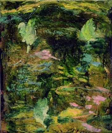"""""""Jardin"""", 2015, huile sur toile, 30 x 25 cm."""