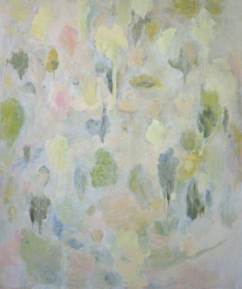 """""""Jardin"""", 2016, huile sur toile, 120 x 100 cm."""