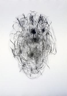 """""""Jardin"""", 2017, mine de plomb sur papier, 42 x 30 cm."""