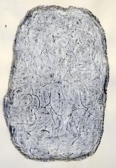 """""""En attente"""", 2017, mine de plomb sur papier, 42 x 30 cm."""