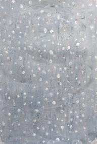 """""""Neige"""", 2019, mixte sur papier, 50 x 35 cm."""