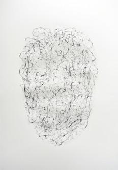 """""""Jardin"""" 2019, mine de plomb sur papier, 50 x 35 0 cm."""