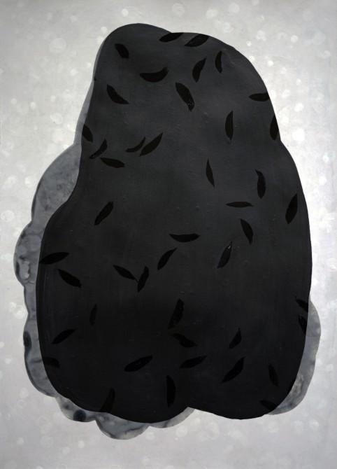 """""""Lacrimae"""", 2019, mixte sur papier, 50 x 35 cm."""