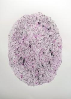 """""""Jardin"""", 2019, mixte sur papier, 70 x 50 cm"""