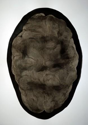 """""""Composte"""", 2019, mixte sur papier, 70 x 50 cm."""